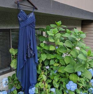 3/$150 - Stunning deep ocean sequin prom dress